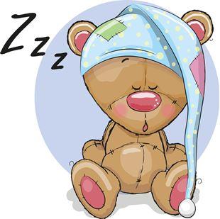 Obrázek Spící medvídek samolepka na zeď