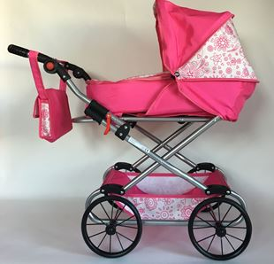Obrázek Kočárek pro panenky NATÁLIE  - Růžová