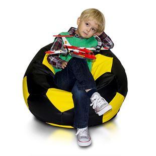 Obrázek Sedací vak Fotbalový míč barevný - Eko kůže