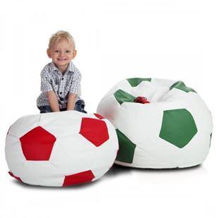 Obrázek Sedací vak Fotbalový míč bílý - Eko kůže