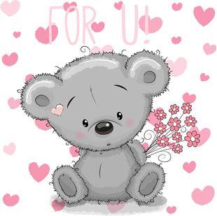 Obrázek Medvídek samolepka na zeď