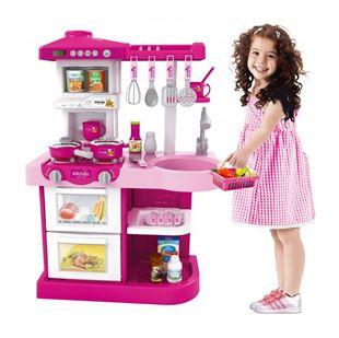 Obrázek Dětská kuchyňka s troubou a myčkou - Růžová