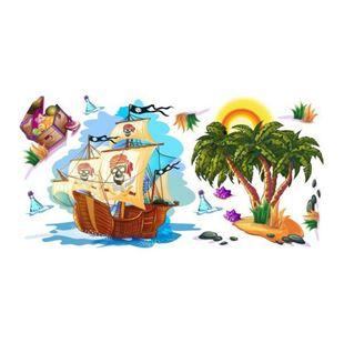 Obrázek Pirátská loď samolepka na zeď