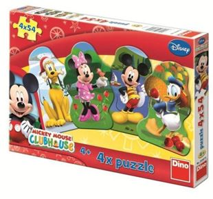 Obrázek Papírové puzzle 4x54 dílků Mickeyho klubík