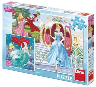 Obrázek z Papírové puzzle 3x55 dílků já jsem princezna