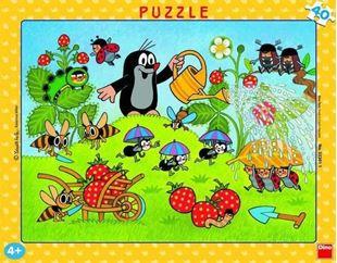 Obrázek Puzzle v rámu 40 dílků Krtek v jahodách