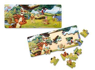 Obrázek Dřevěné puzzle - Medvídek Pú 21 dílků