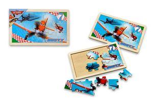 Obrázek Dřevěné puzzle - Letadla 15 dílků