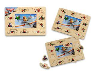 Obrázek Dřevěná vkládačka + puzzle - Letadla