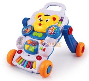 Obrázek Dětské hudební chodítko 2v1 - Medvídek