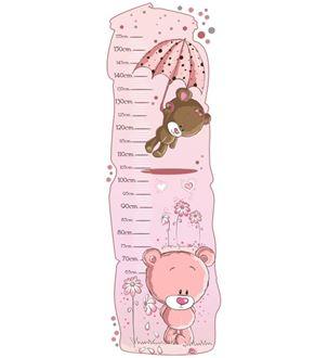 Obrázek z Metr na stěnu - Medvídci růžová
