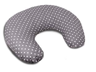 Obrázek Kojící polštář malý - šedá s puntíky