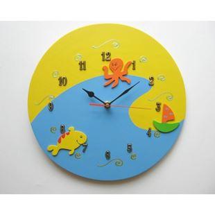 Obrázek Dětské dřevěné hodiny Moře