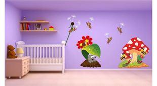 Obrázek Mravenci a zvířátka samolepka na zeď