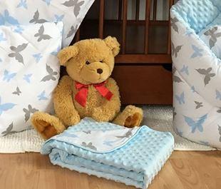Obrázek Dětská deka MINKY 75 x 100cm - Motýlci