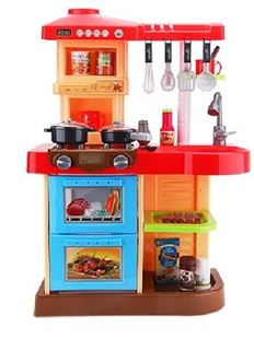 Obrázek Dětská kuchyňka s troubou a myčkou - Červená