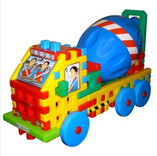 Obrázek Skládačka - Betonárský vůz