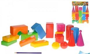 Obrázek Plastové kostky - 18 kusů