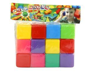 Obrázek Plastové kostky - 12 kusů
