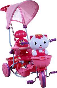 Obrázek Dětská tříkolka s vodící tyčí Arti - Kočička