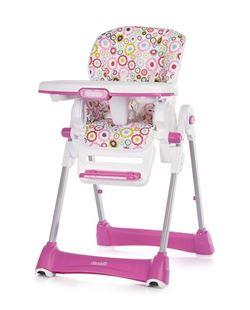 Obrázek CHIPOLINO Dětská jídelní židlička Bravo - Ružová Kytičky