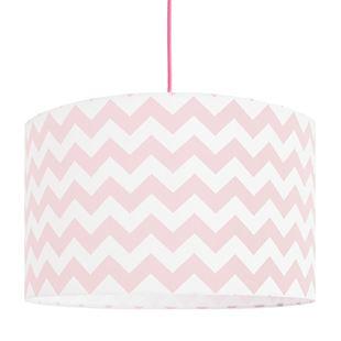 Obrázek Textilní závěsná lampa Cik Cak - růžová