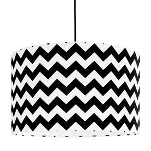 Obrázek Textilní závěsná lampa Cik Cak - černá