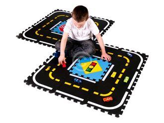 Obrázek z Dětský koberec puzzle dráha