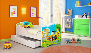 Obrázek Dětská postel - Bagr