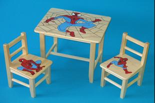 Obrázek Dětský dřevěný stůl se židlemi - Spider Man