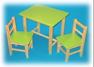 Obrázek Dětský dřevěný stůl se židlemi - Různé barvy