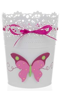 Obrázek Kovový stojan na tužky a pastelky - Motýlci