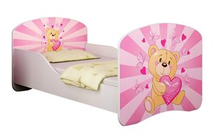 Obrázek Dětská postel - Růžový Teddy medvídek