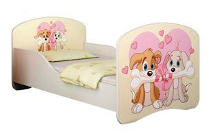 Obrázek Dětská postel - Zamilovaní pejsci