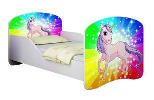Obrázek Dětská postel - Poník jednorožec duha
