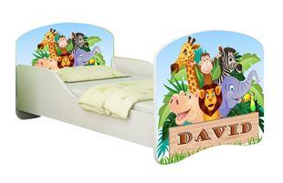 Obrázek Dětská postel - ZOO + jméno