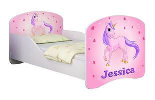 Obrázek Dětská postel - Poník jednorožec + jméno