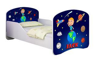 Obrázek Dětská postel - Vesmír + jméno