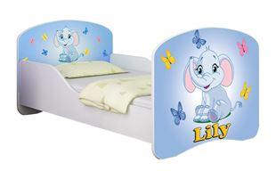 Obrázek Dětská postel - Modrý sloník + jméno