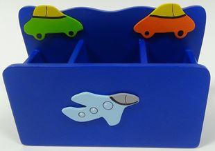 Obrázek Dřevěný stojan na tužky a pastelky - Letadlo