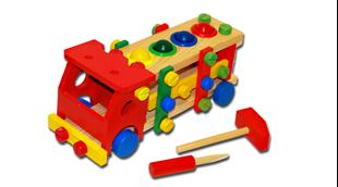 Obrázek Dřevěné autíčko s nářadím