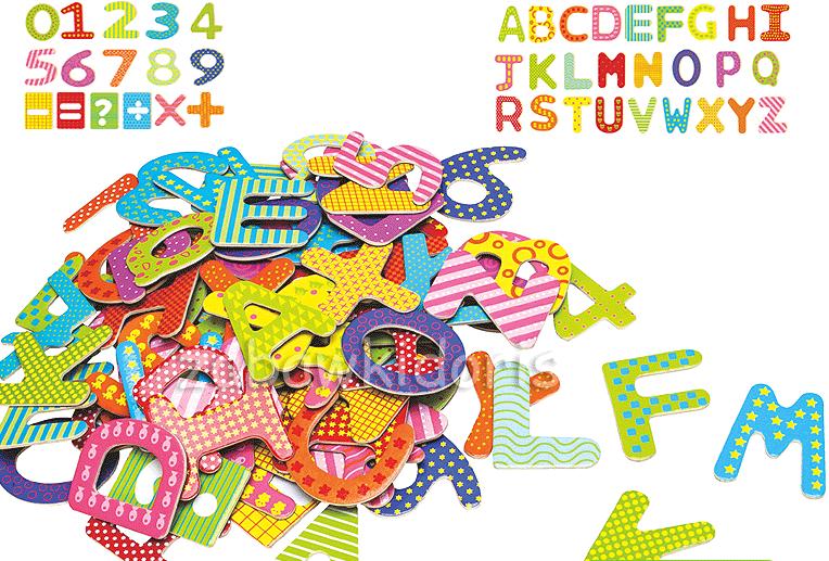 Dřevěná magnetické písmenka a číslice. Bambulin.cz - hračky 93aa719a02