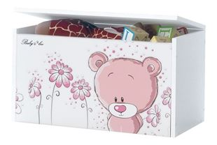 Obrázek Truhla na hračky - Růžový medvídek