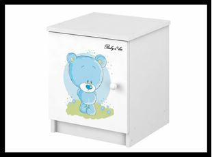 Obrázek Noční stolek Modrý medvídek