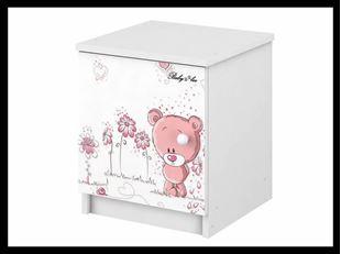 Obrázek Noční stolek Růžový medvídek