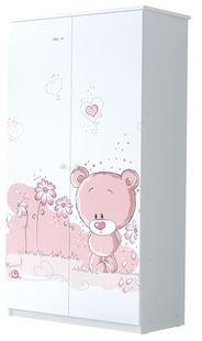 Obrázek Šatní skříň Růžový medvídek