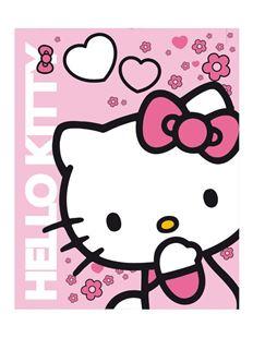 Obrázek Dětská oboustranná auto deka Hello Kitty 120x150 cm