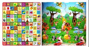 Obrázek Dětský oboustranný pěnový koberec - Zvířátka a abeceda 200x180 cm