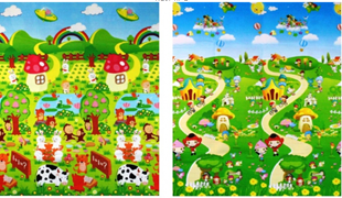 Obrázek Dětský oboustranný pěnový koberec - Různé motivy 180x150x0,5 cm