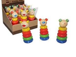 Obrázek Dětská dřevěná pyramida - malá
